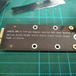 AliExpressで購入した商品が届いたので、配送期間を発表! 【mSATA SSD SATA 7+17ピン アダプタカード編】